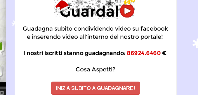 guarda il video e guadagna