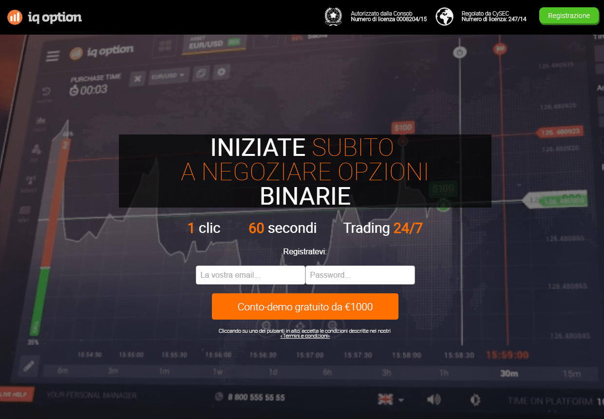 strategia per le opzioni binarie iq option)