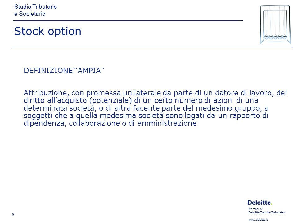 definizione di stock option)