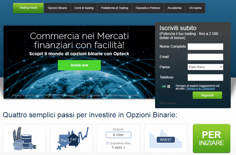 opzioni binarie con account demo