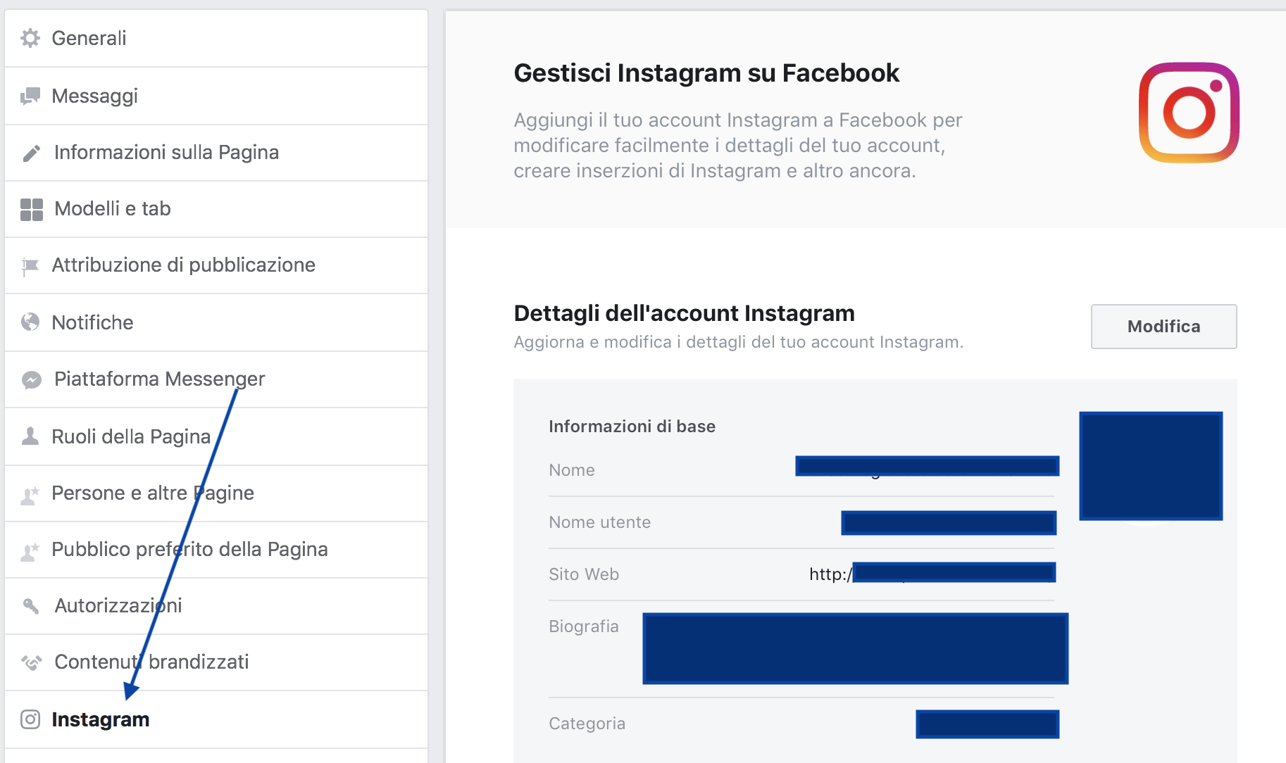 ig opzione account personale)
