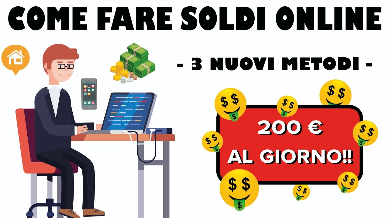 modi per fare soldi video online